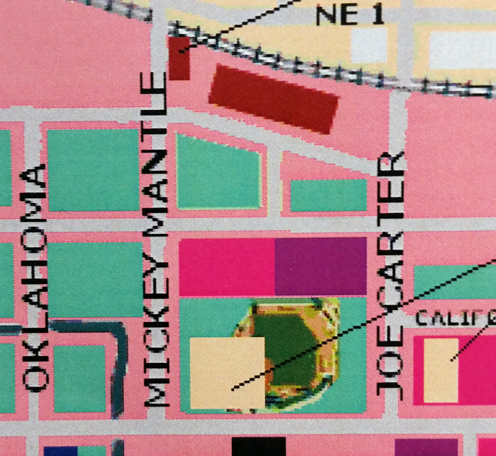 Map design source detail: Mickey Mantle Dr