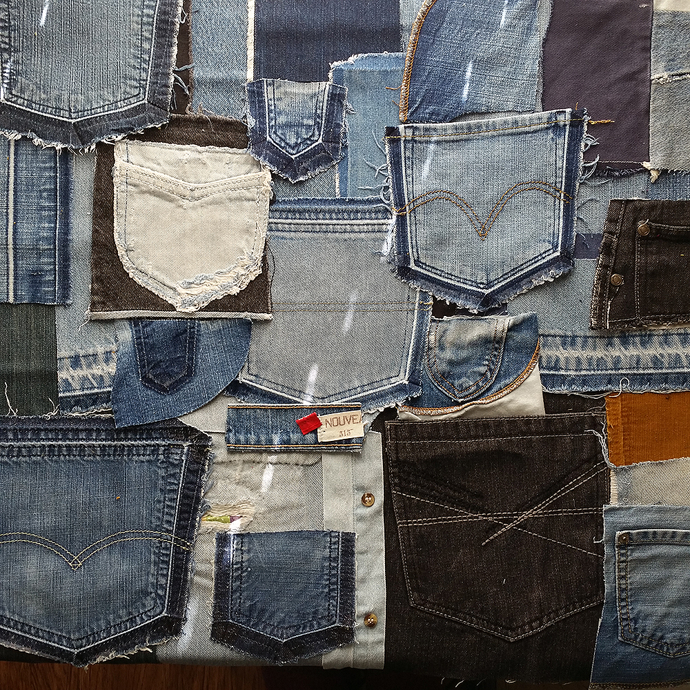 Denim Wall (conceptual layout) | Commissioned work