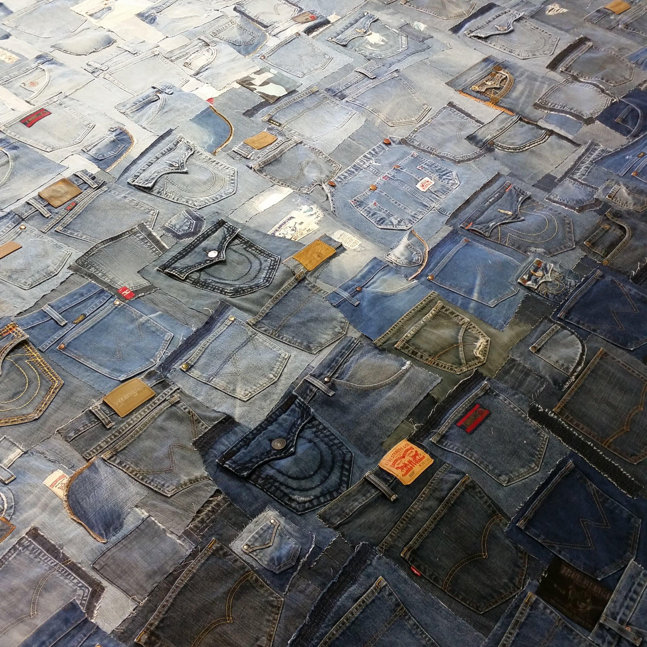 Denim Wall (in progress) | Commissioned work