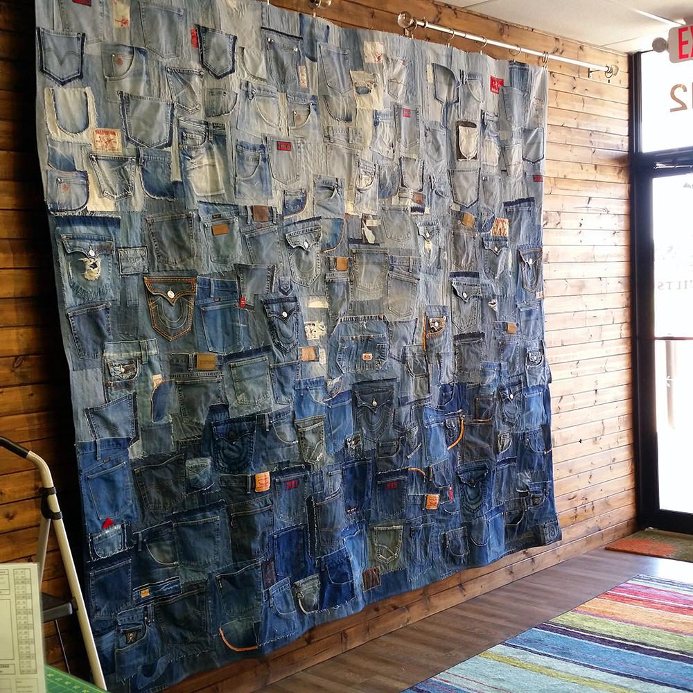Denim Wall (pre-installation) | Commissioned work