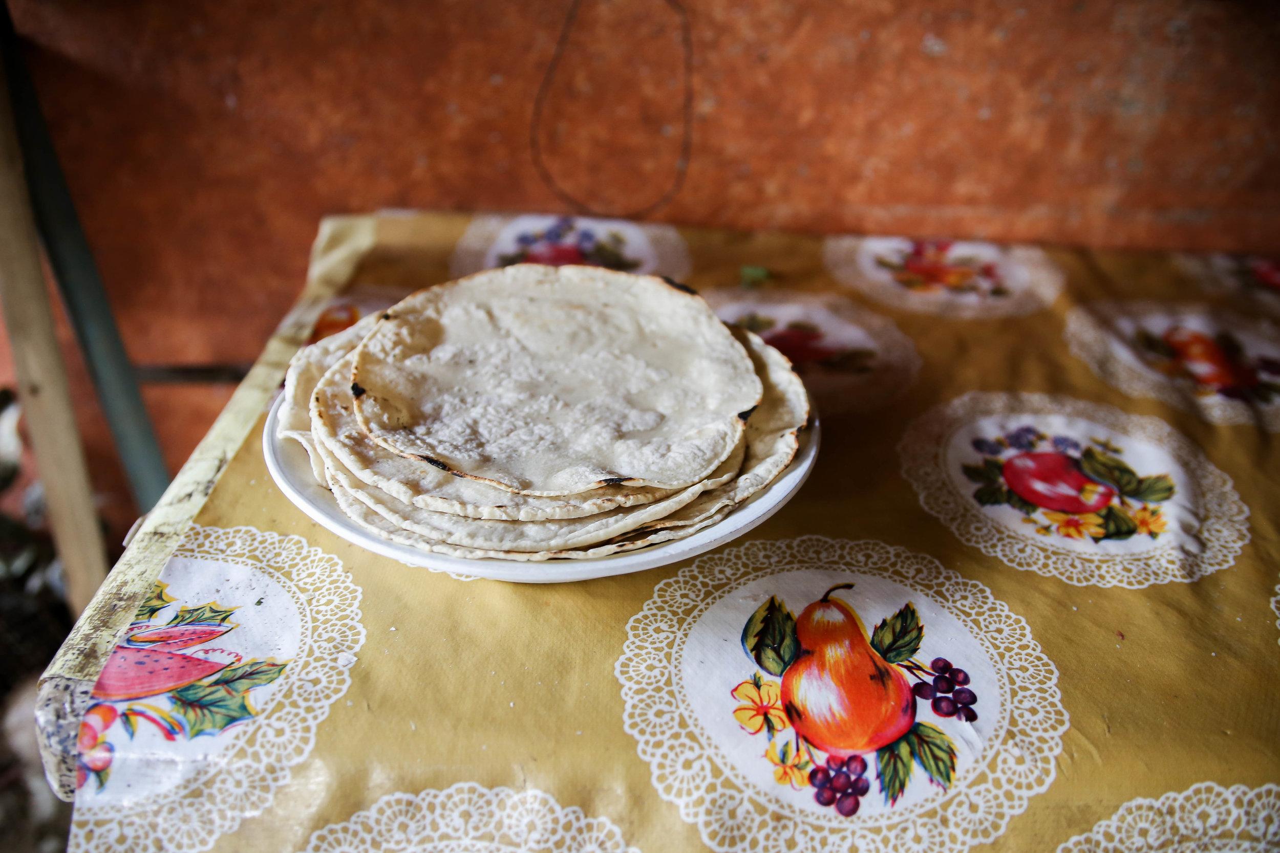 Tortillas.  Teotitlán del Valle,   México.