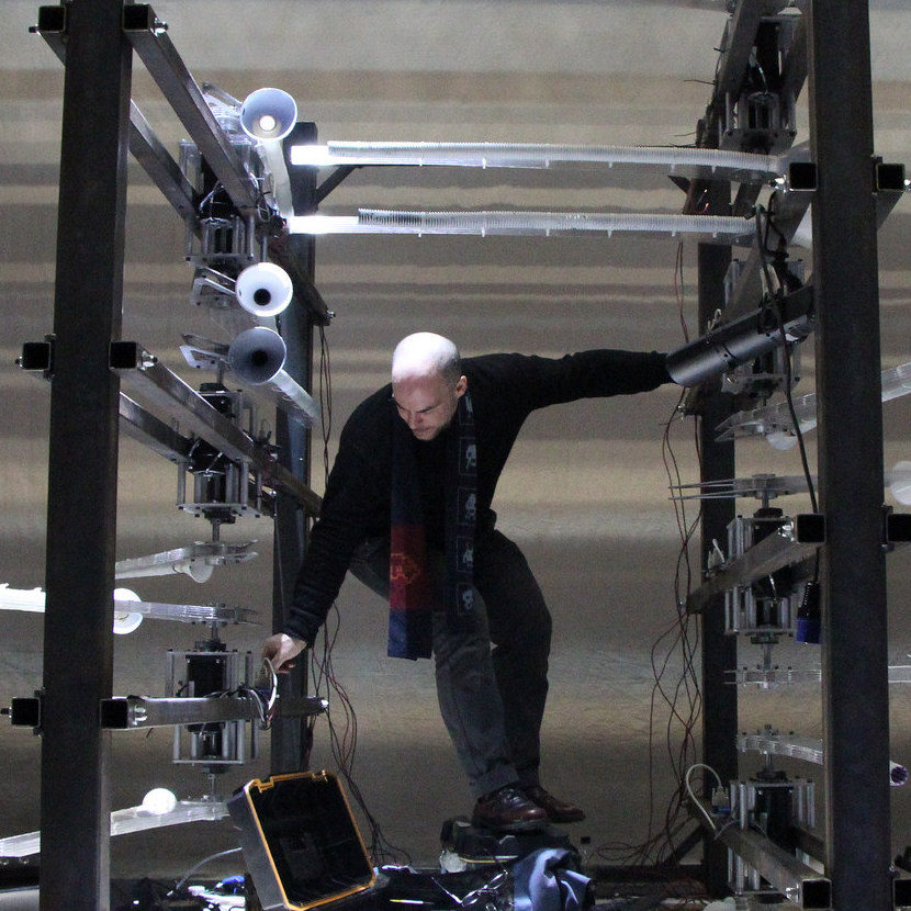 Andy Cavatorta , Inventor/Artist, Andy's Studio  Andy is a Brooklyn-based inventor and artist working with robotics, music, and theater. His work integrates emerging technologies with traditional crafts to discover new ways to create meaning with sound and motion.  More...