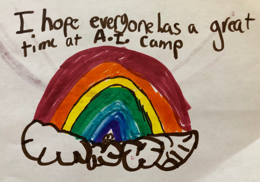 Our campers' positive attitude was essential to our learning space.