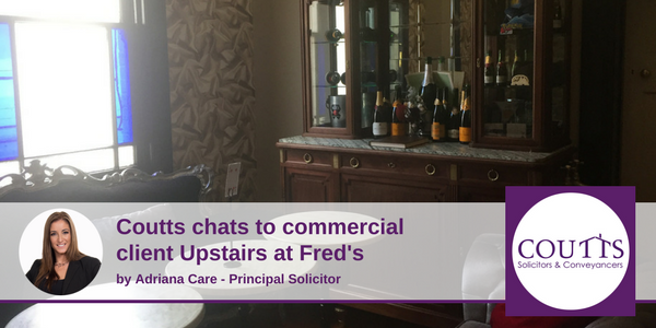 Coutts chats to Upstairs at Fred's
