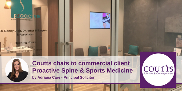 Coutts chats to Proactive Spine & Sports Medicine