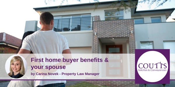 First home buyer benefits