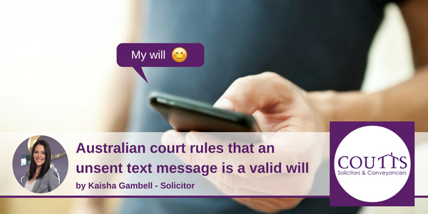Text message as valid will