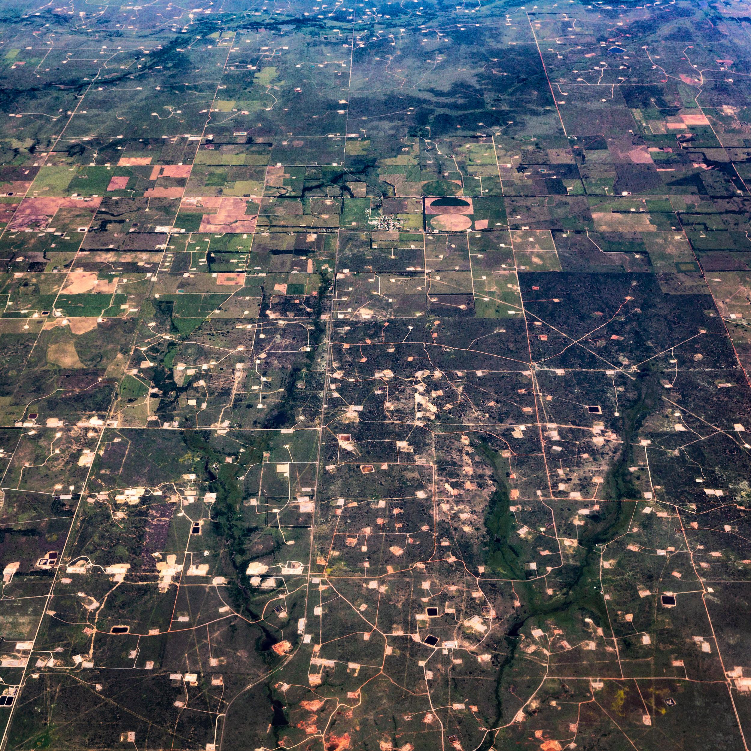 Fracking at Allison, Texas, June 2014