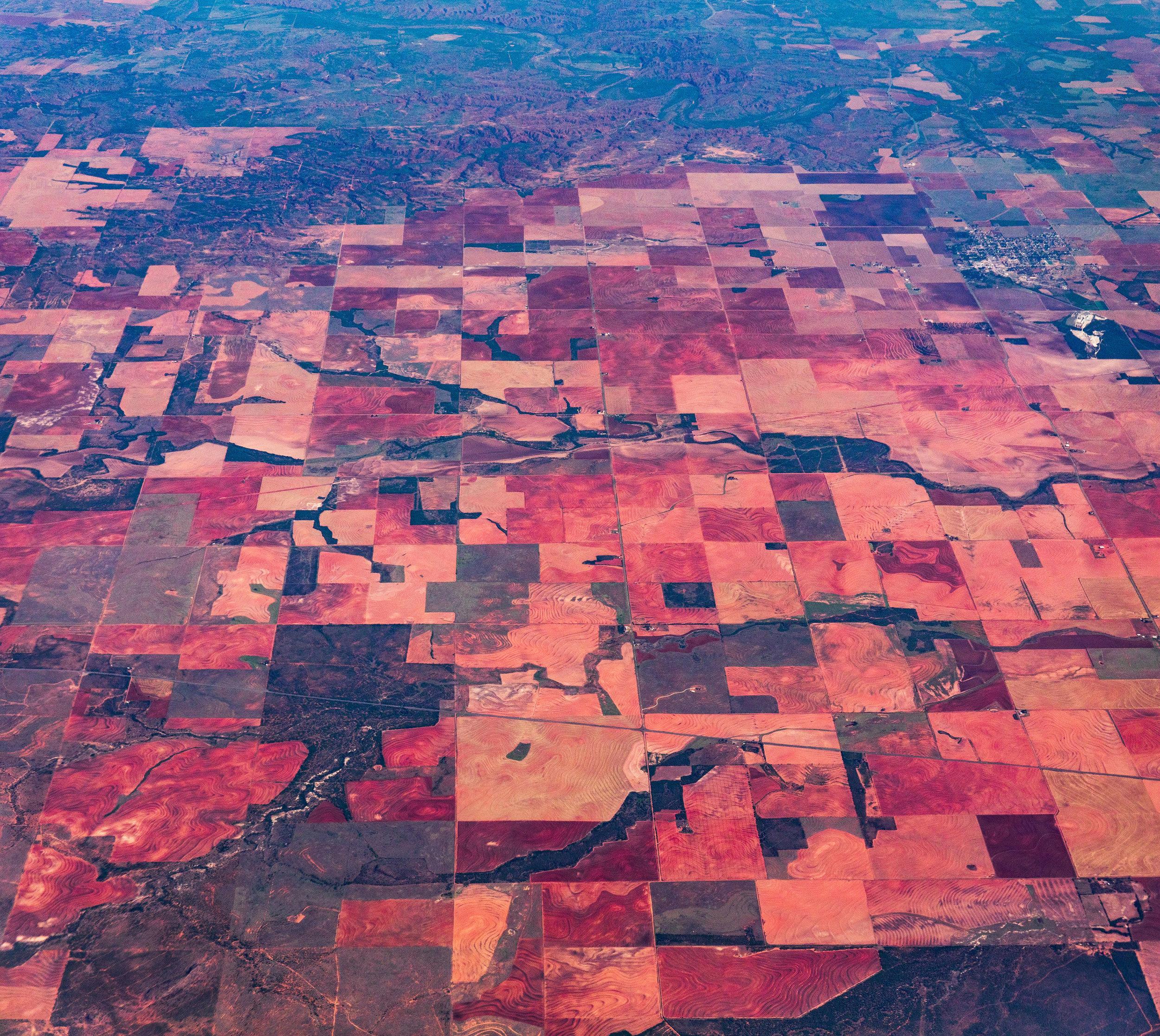 Red soil farmland at Rotan, Texas