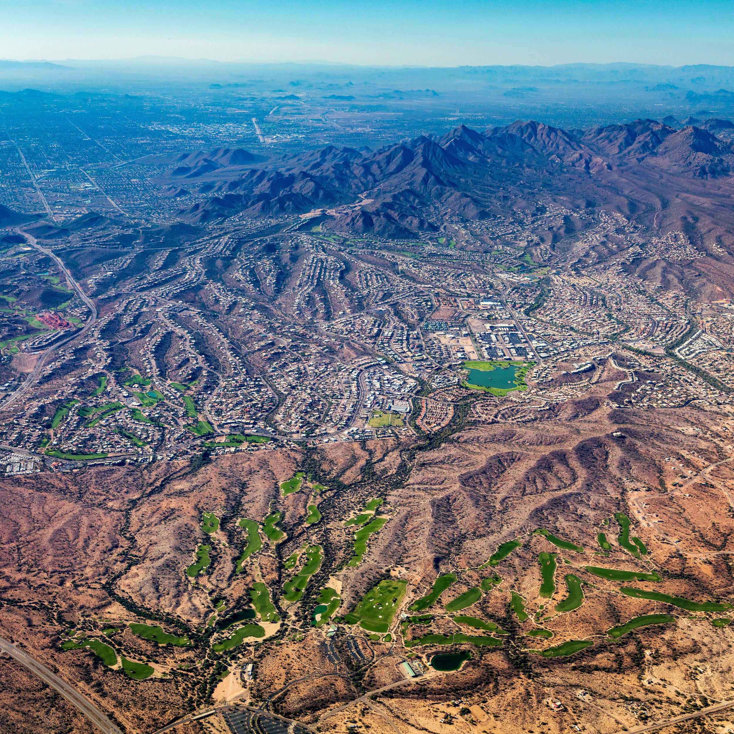 Suburban landscape, Maricopa County Arizona