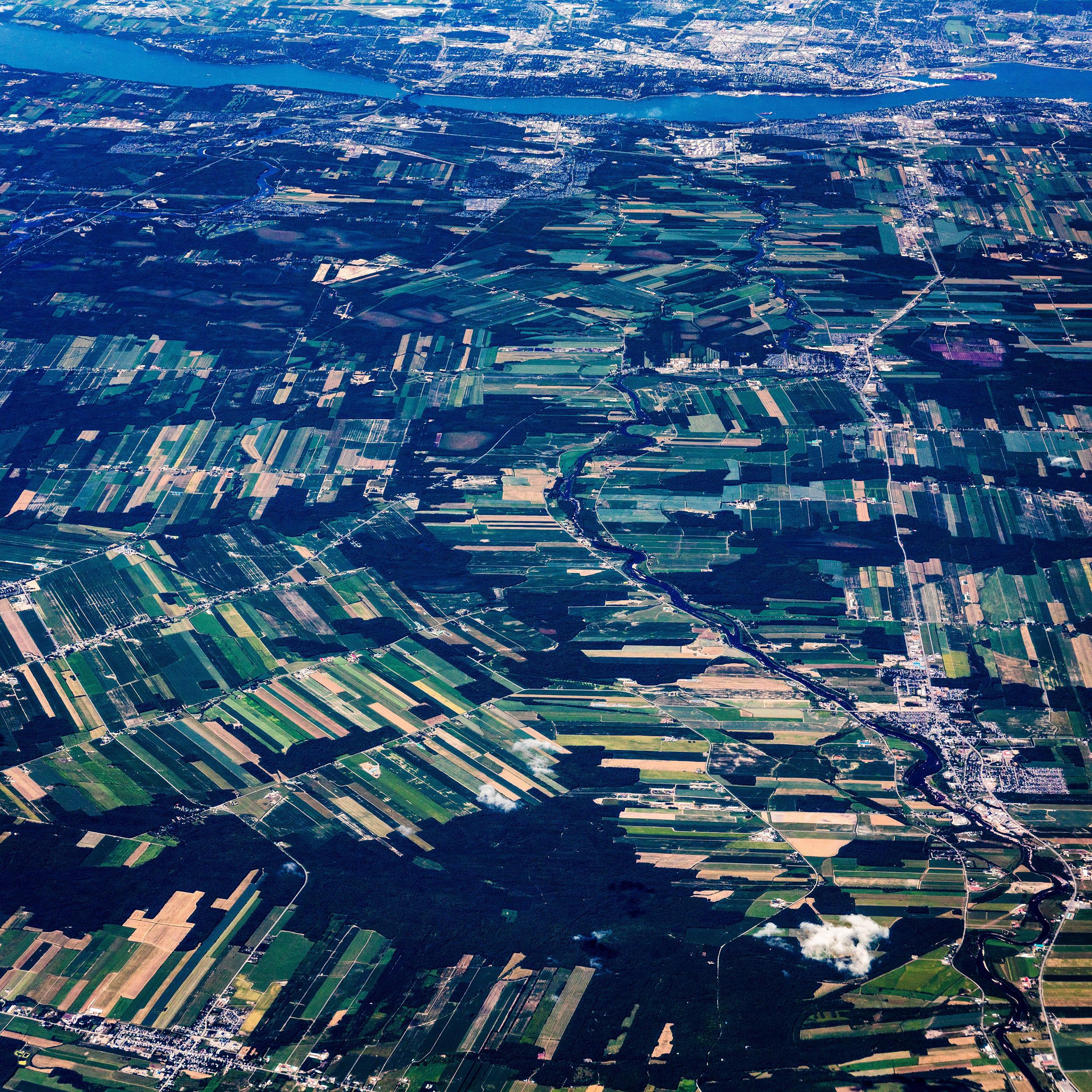 Farmland south of Quebec City, Canada