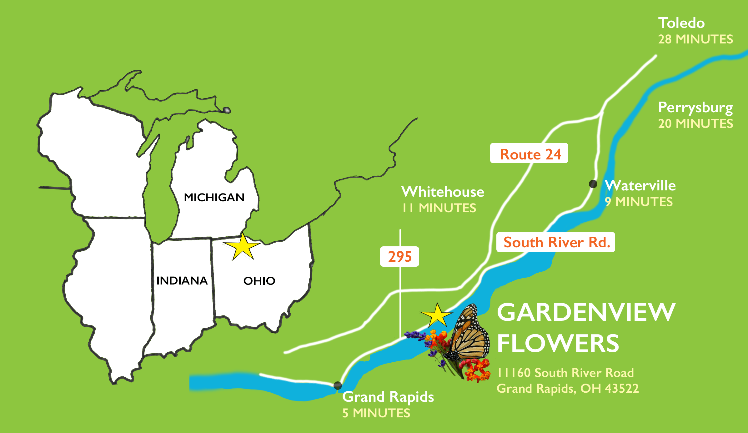 Map to GardenView Flowers