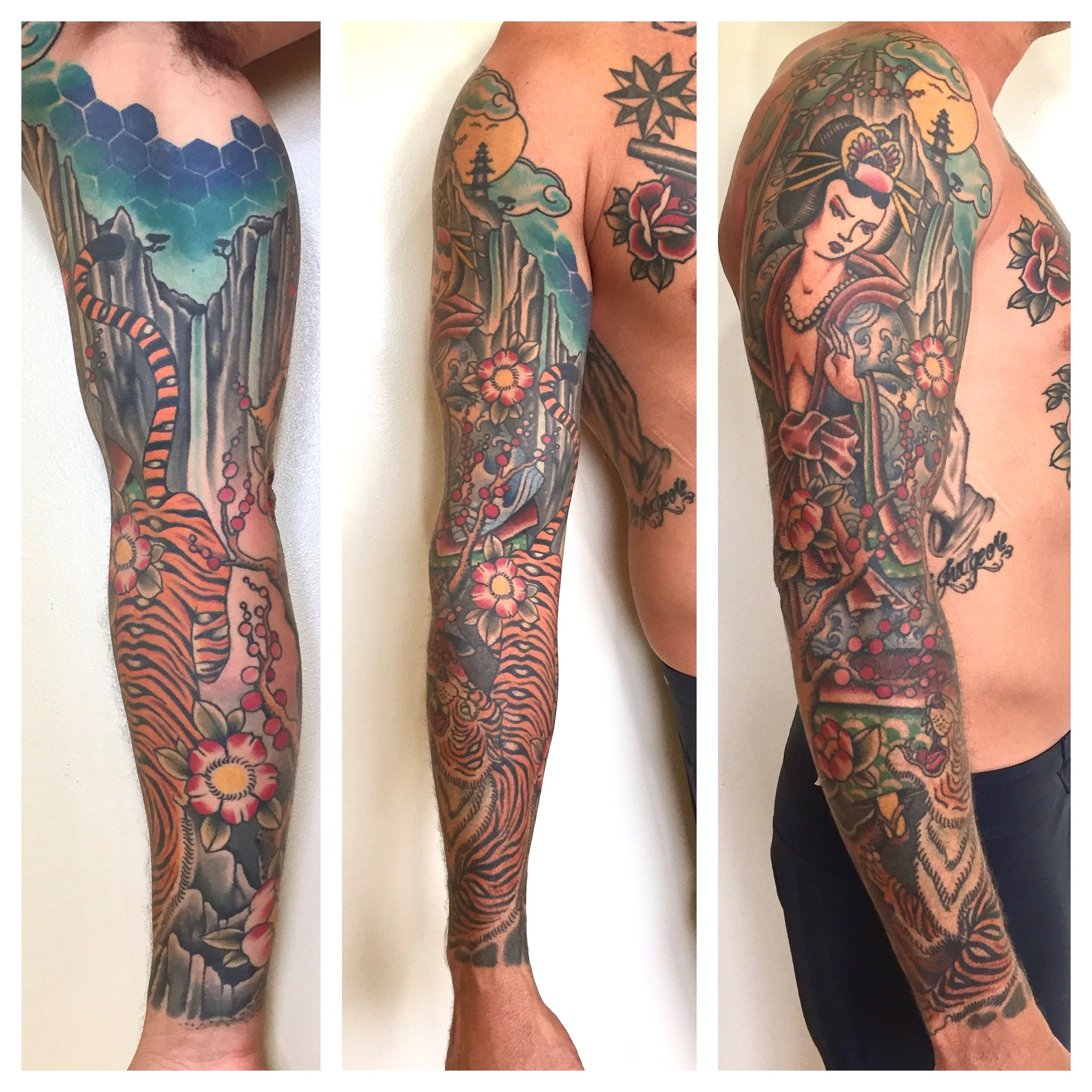 Healed sleeve work by Matt Hoyme