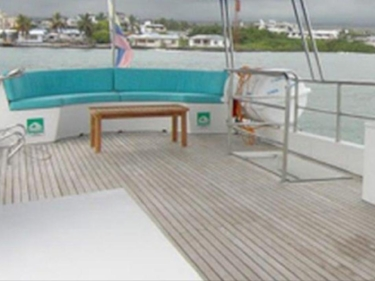 Spread out and enjoy the ocean breeze on the top sun deck.