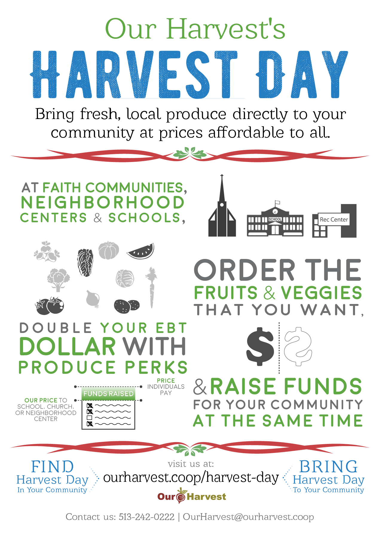 Learn more about the program with this flyer or visit Our Harvest's  Harvest Day  page!