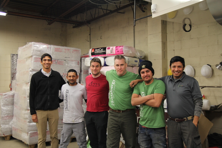 Pictured: Andres (left) with Sustainergy team this winter.