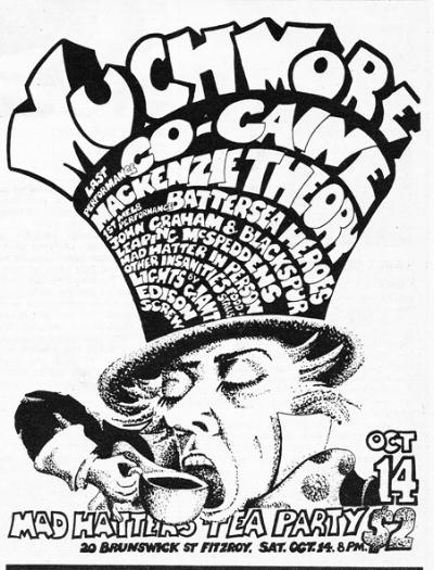 Gig advert for Much More Ballroom, October 1972