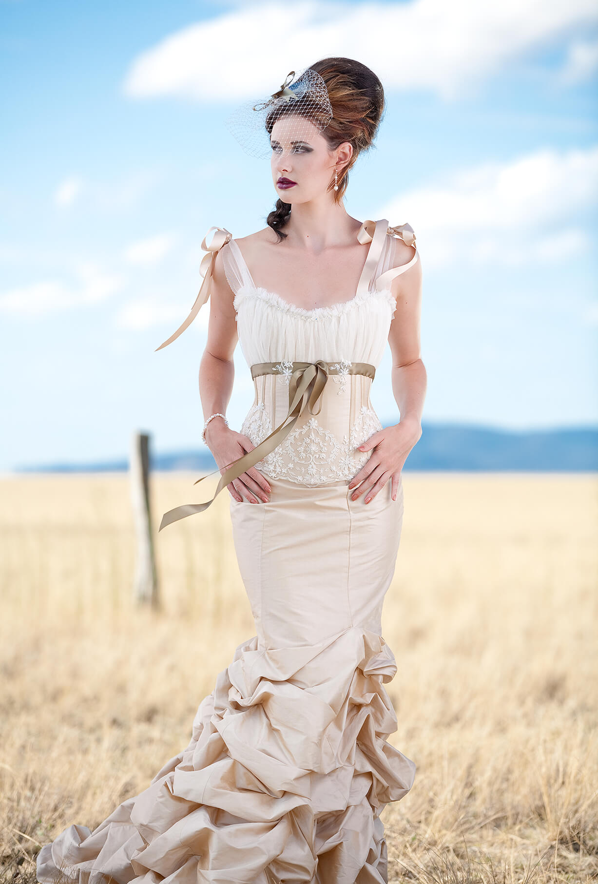 Bridal fashion shoot, bridal gown advertising photography
