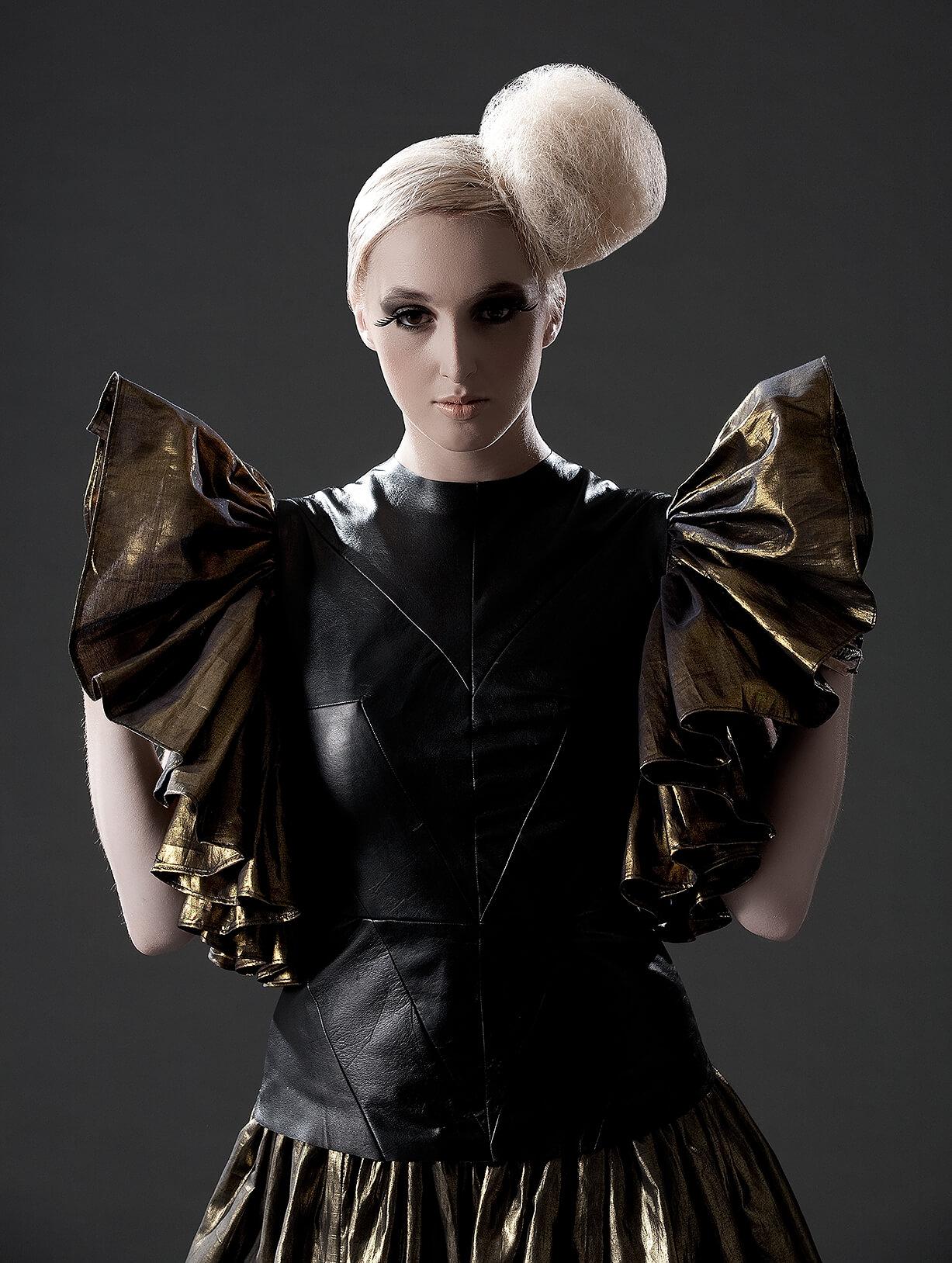 Futuristic fashion photography