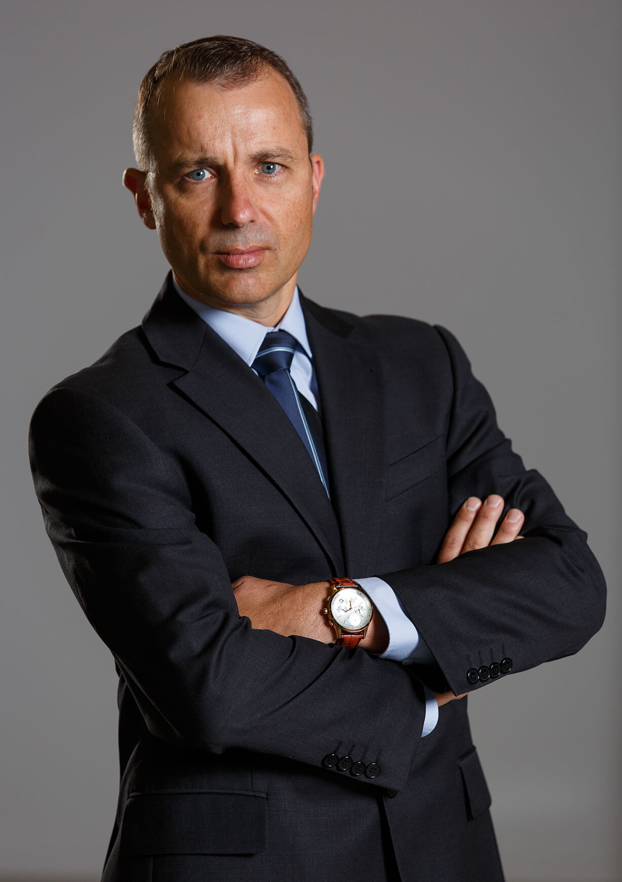 GQ style male corporate portrait