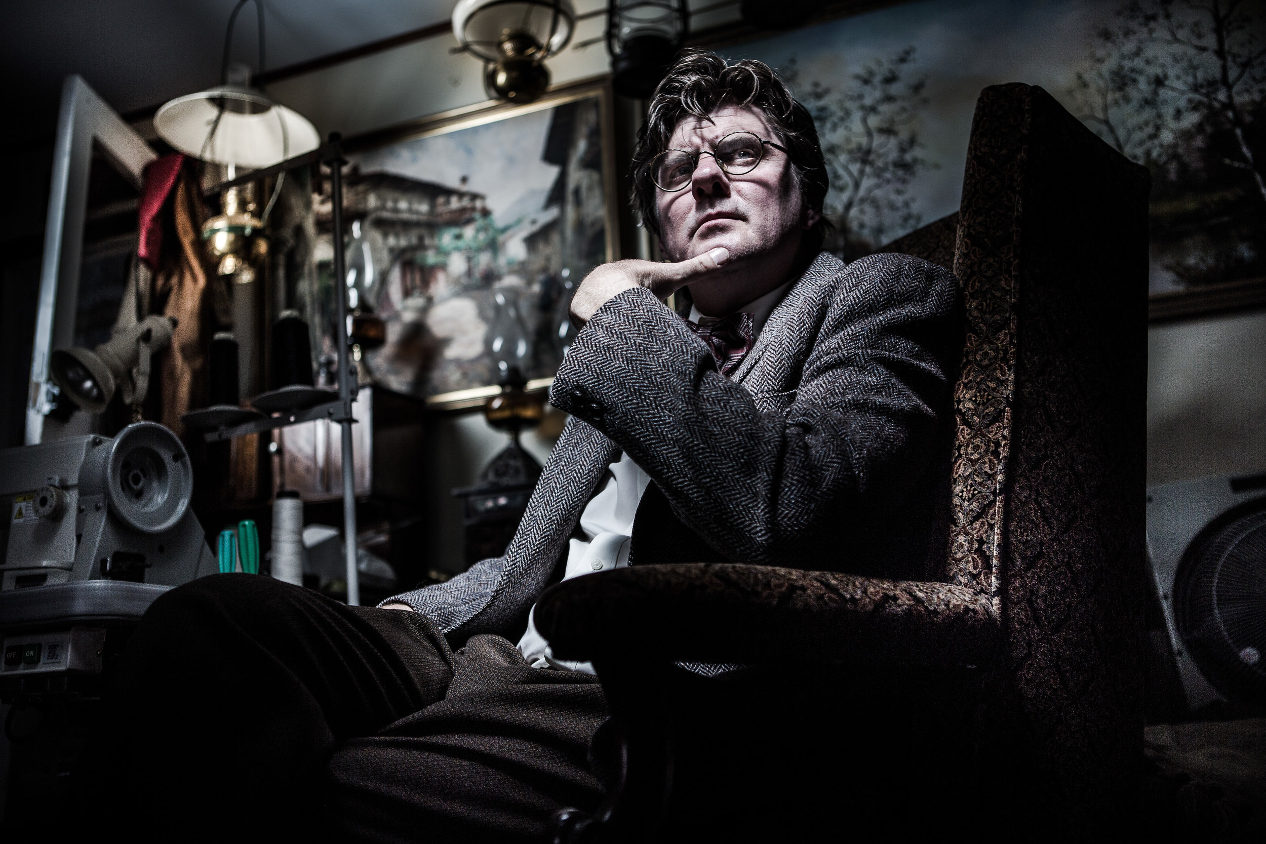 Television production character portrait by Melbourne Photographer Chalk Studio