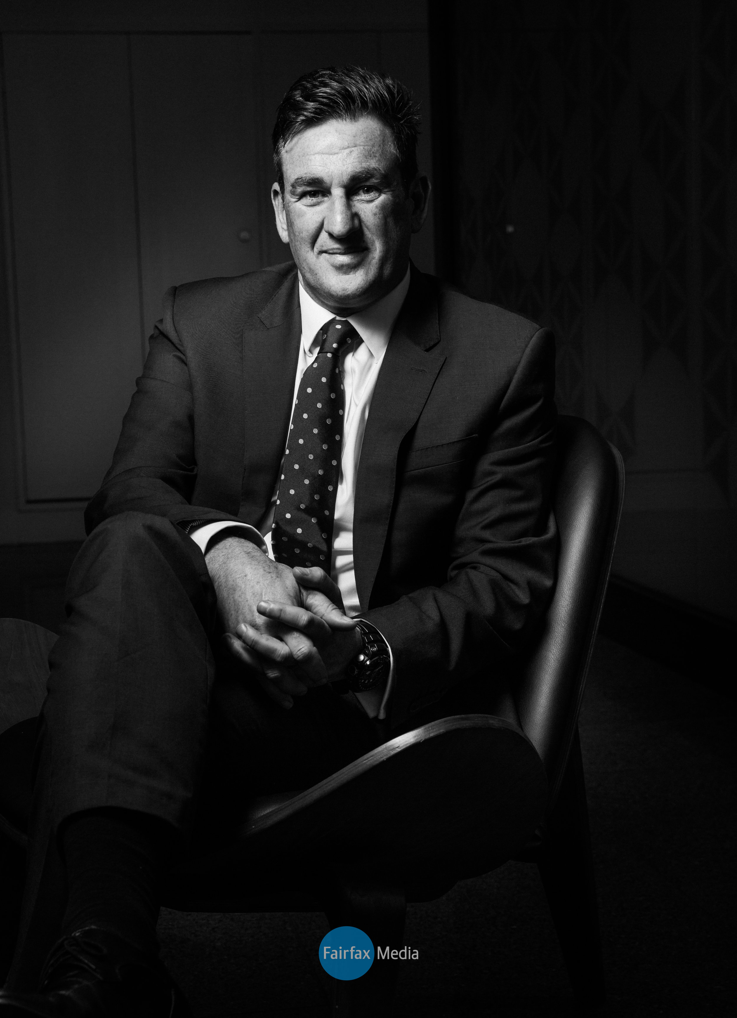corporate executive portrait photography in black and white