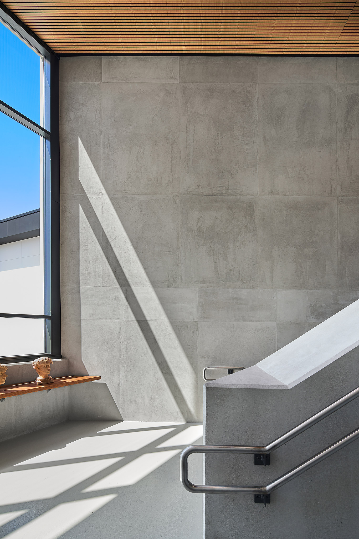 amazing concrete internal walled staircase