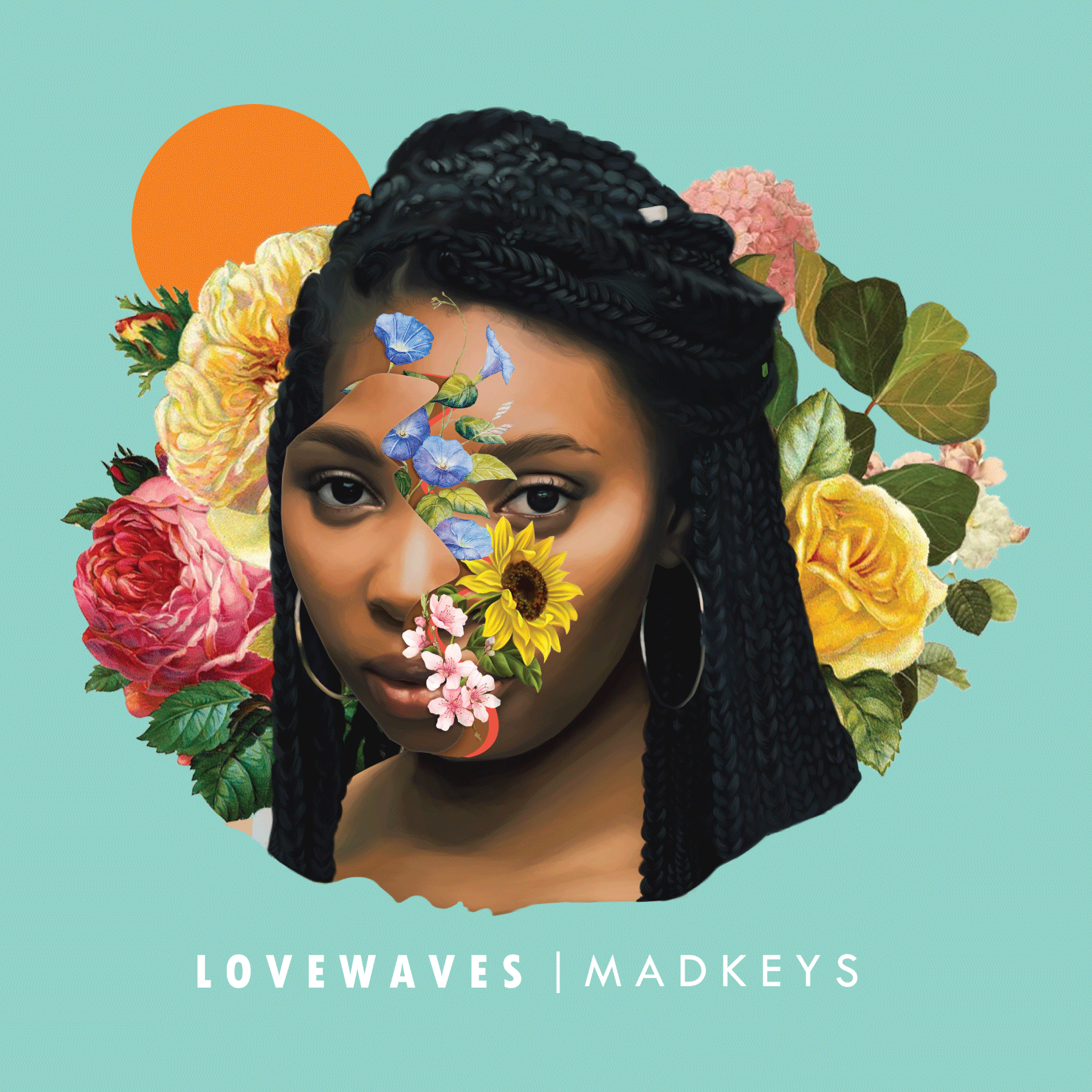 """LoveWaves EP - 2017   """"With love, it's possible."""" This project is a celebration of overcoming lack of identity and self-confidence, and many other ills. God reestablished my passion for music, and my fiancé, Chelsea (pictured in the artwork), encouraged and supported me through this. I've dedicated this EP to her."""