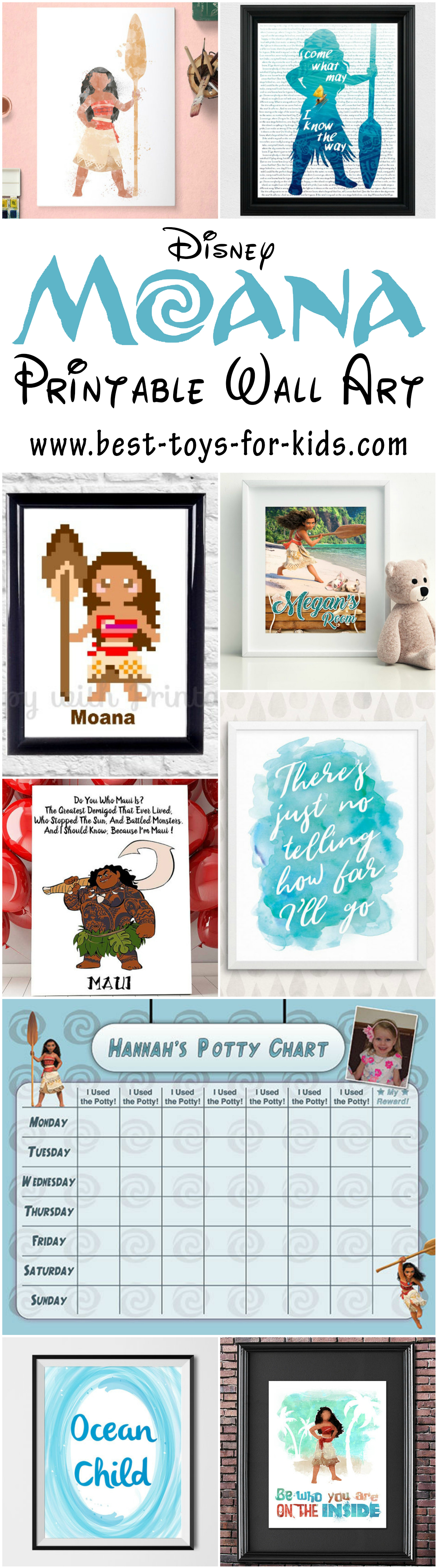 Disney Moana Printable Art Pictures And Wall Decor For Kids