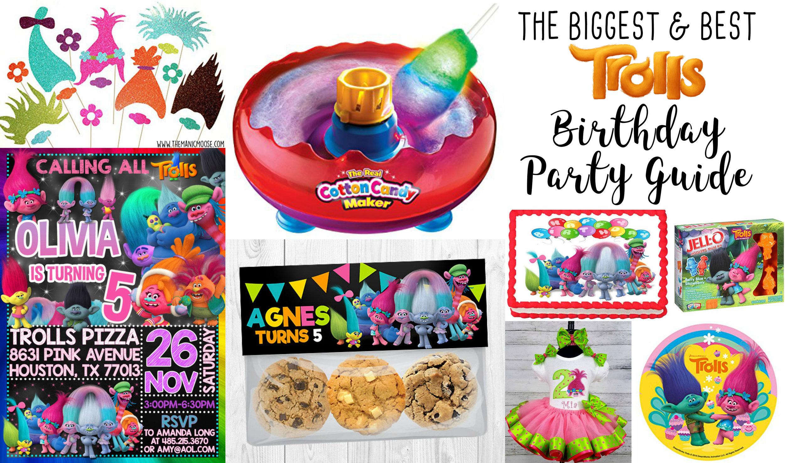 Dreamworks Trolls Birthday Party Supplies
