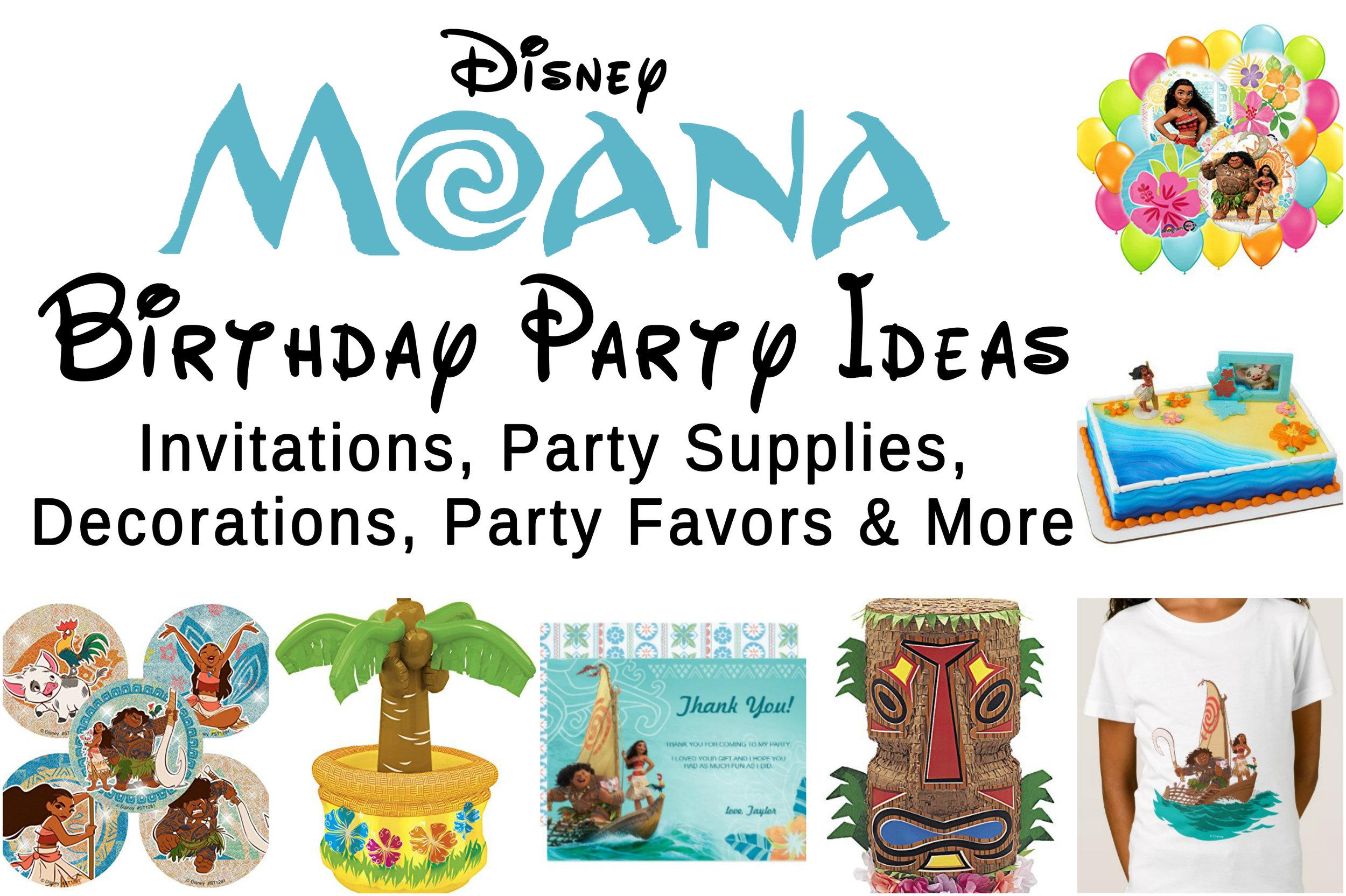 Disney Moana Birthday Party
