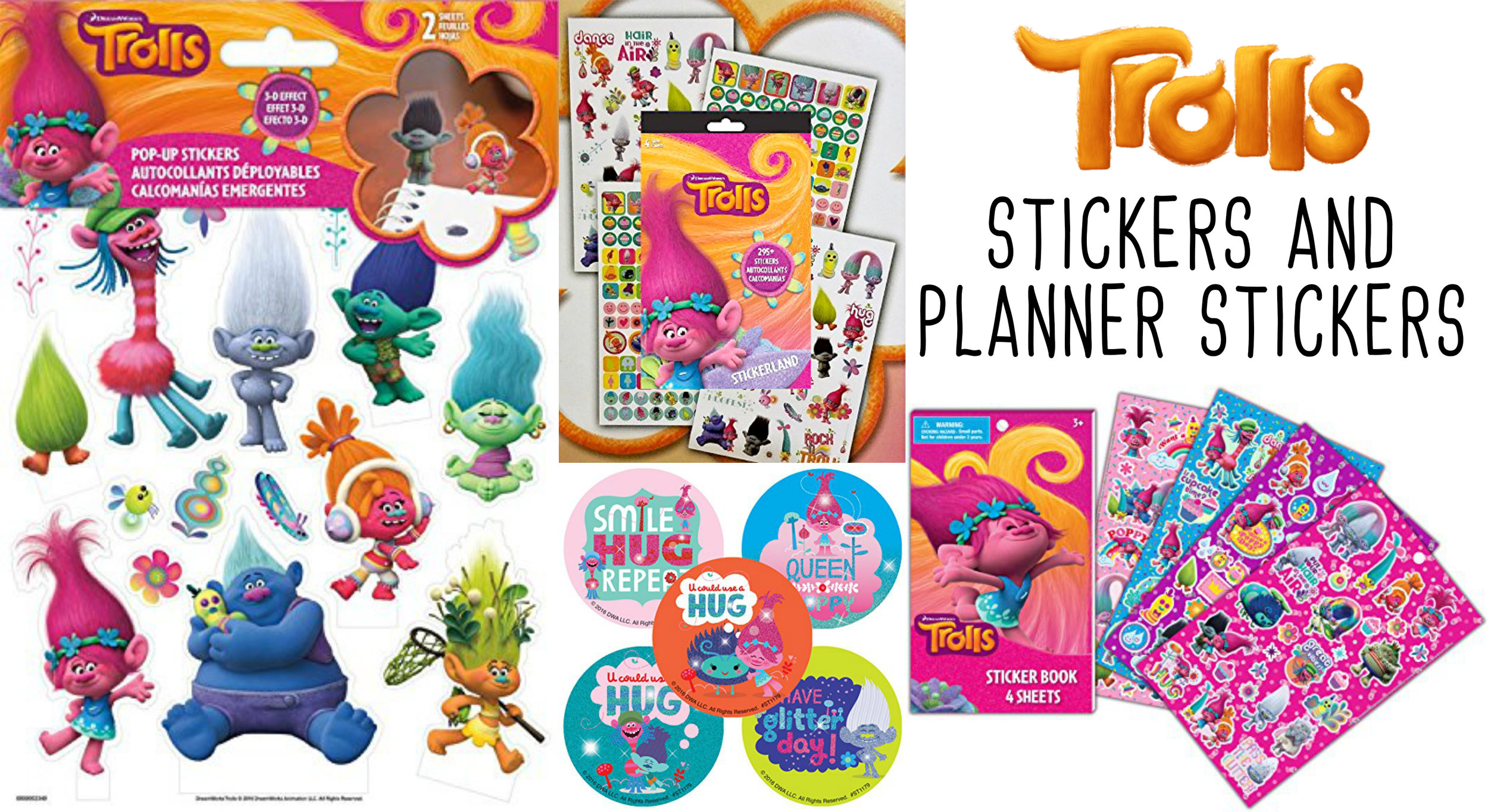 Trolls Stickers And Planner Stickers