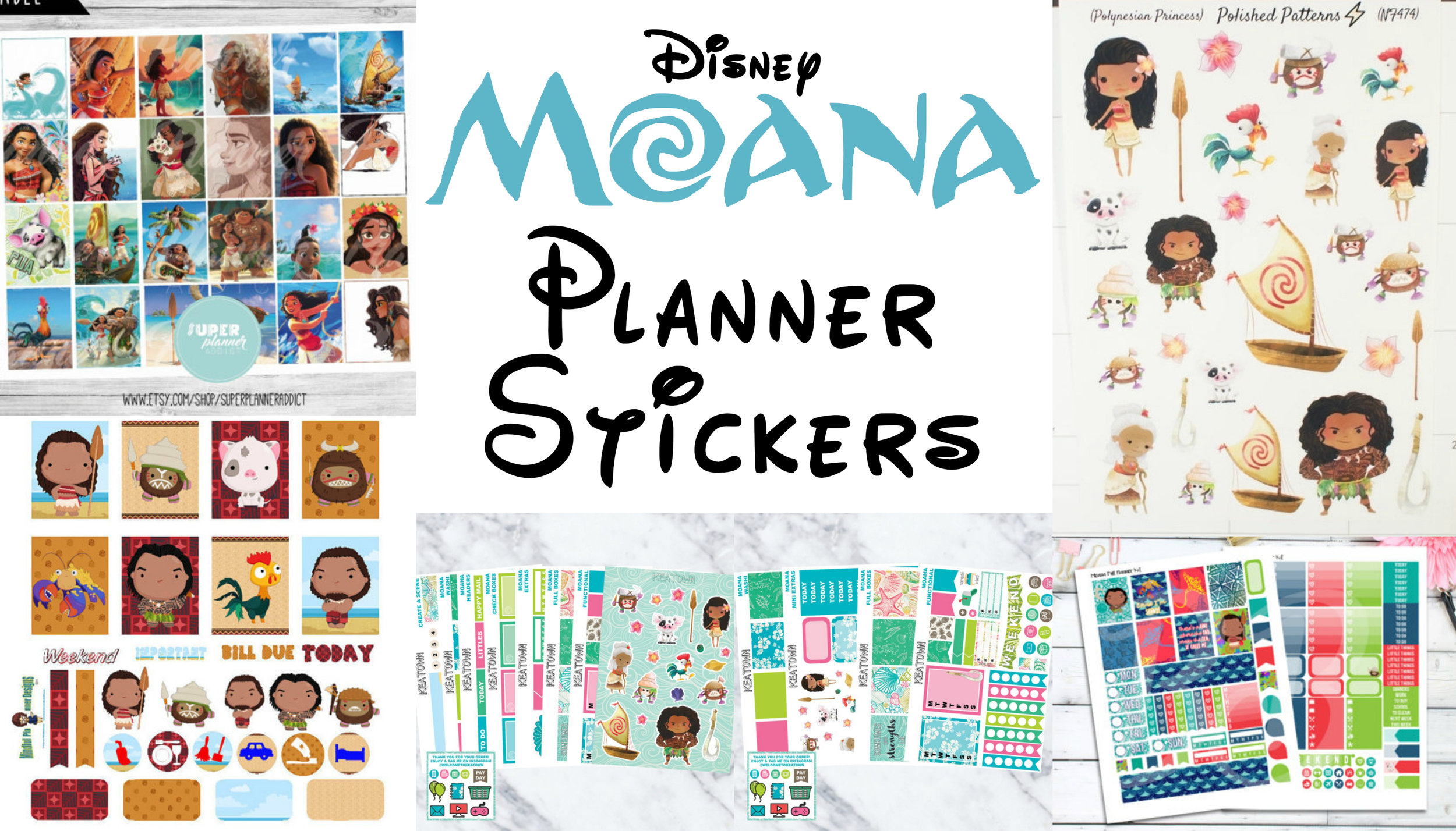 Moana Planner Stickers