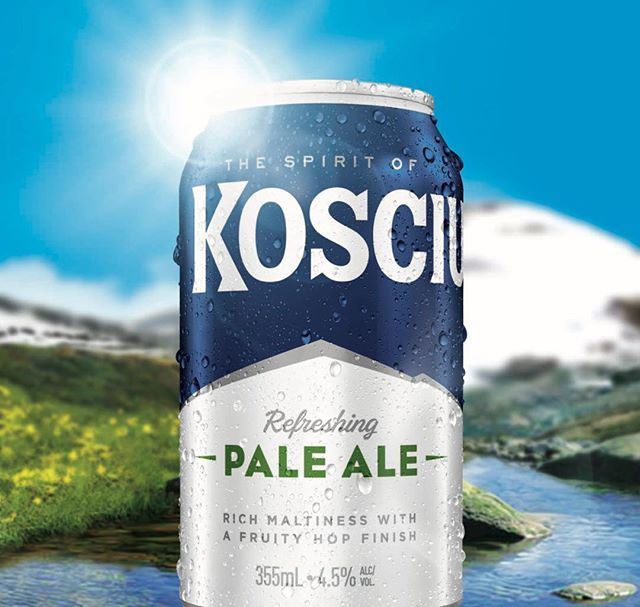Design for the new Kosciuszko Pale Ale can amplify the distinctive brand assets #craftbeer #beer #kosciuszkobrewery #packagingdesign #packaging #graphicdesign #brandedpackaging #branddesign #paleale #design