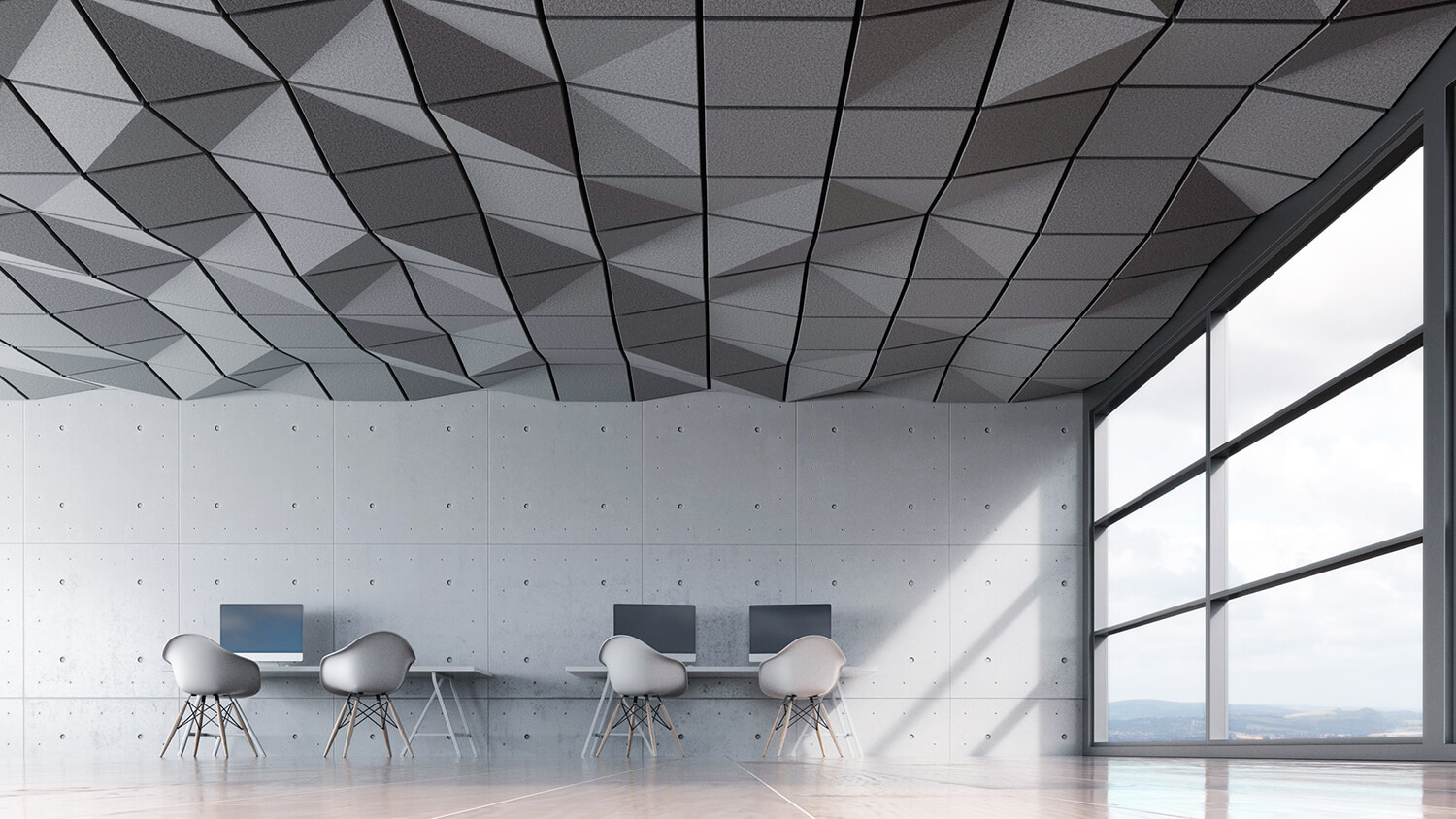 Crease Ceiling Tile
