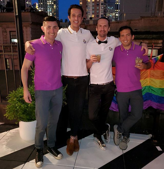 Showing off some of the @originalpenguin Pride polos at our free roof top Pride event last night. Special thanks to @thelookupnyc for hosting us. #beanoriginal #beanoriginal🐧 #guysocial #guysocialnyc #gayboy #gaypride #cocktailparty #rooftopnyc #thelookup