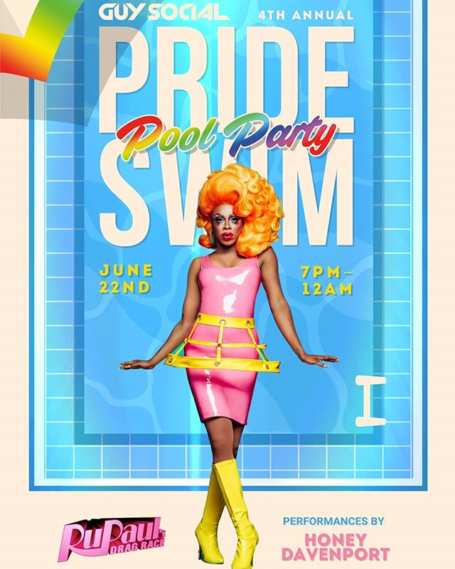 RUveal: Honey Davenport will be performing live at this Saturday's 4th annual  PRIDE SWIM! Grab your tickets  before we sell out! + live boylesque and Camp Morning Wood shows . . . #gay #gayevent #gaynyc #gaynycnightlife #gayparty #gaypoolparty #gaysinspeedos #guysinspeedos #speedos #guysocial #gaysocial #dragrace #rupaulsdragrace
