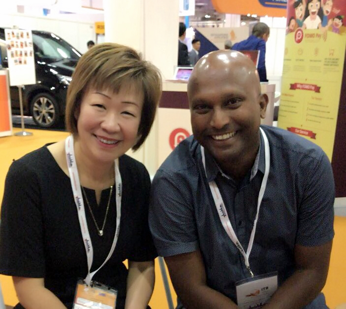 From left to right:  Ms Aileene Thangaveloo (Director - Marketing, FLA) and Mr Christy Guna Desa (General Manager, The Damai Bali).