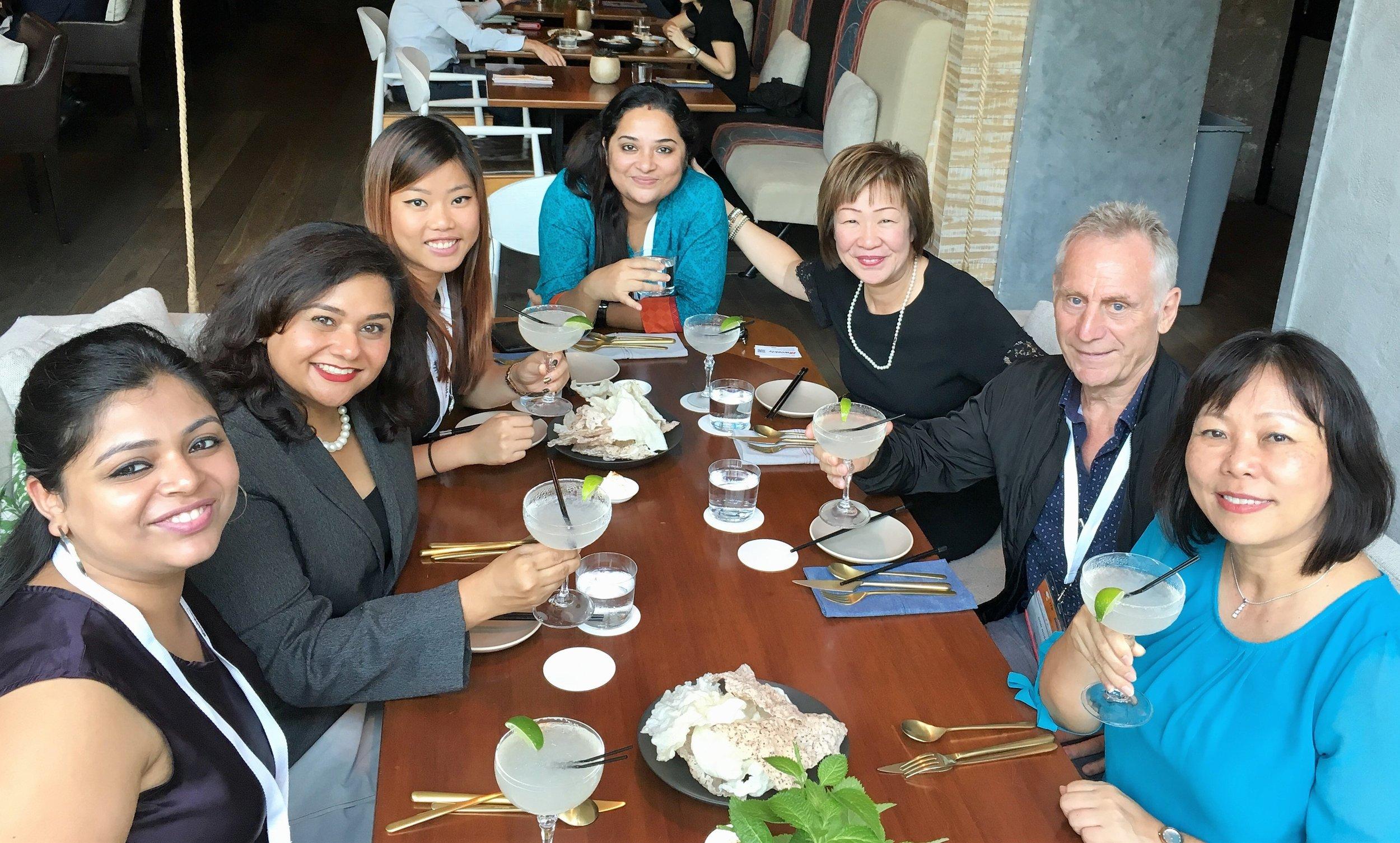 From left to right: Ms Jasleen Kaur (Media India Group), Ms Jagdish Sandhu (CEO, FLA), Ms Gina Sin (Biz Events Asia),Ms June Mukherjee (Media India Group), Ms Aileene Thangaveloo (Director - Marketing, FLA), Mr Don Ross (TTR), Ms Serene Law (VP, FLA).