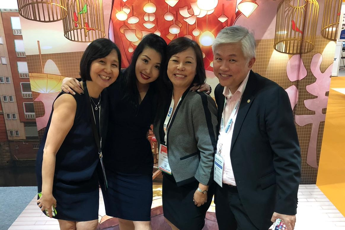 From left to right: Ms Judy Chak (National University of SIngapore), Ms Amy Lai (UOB Travel), Ms Serene Law (FLA), Mr Ray Hua (Capri by Fraser).