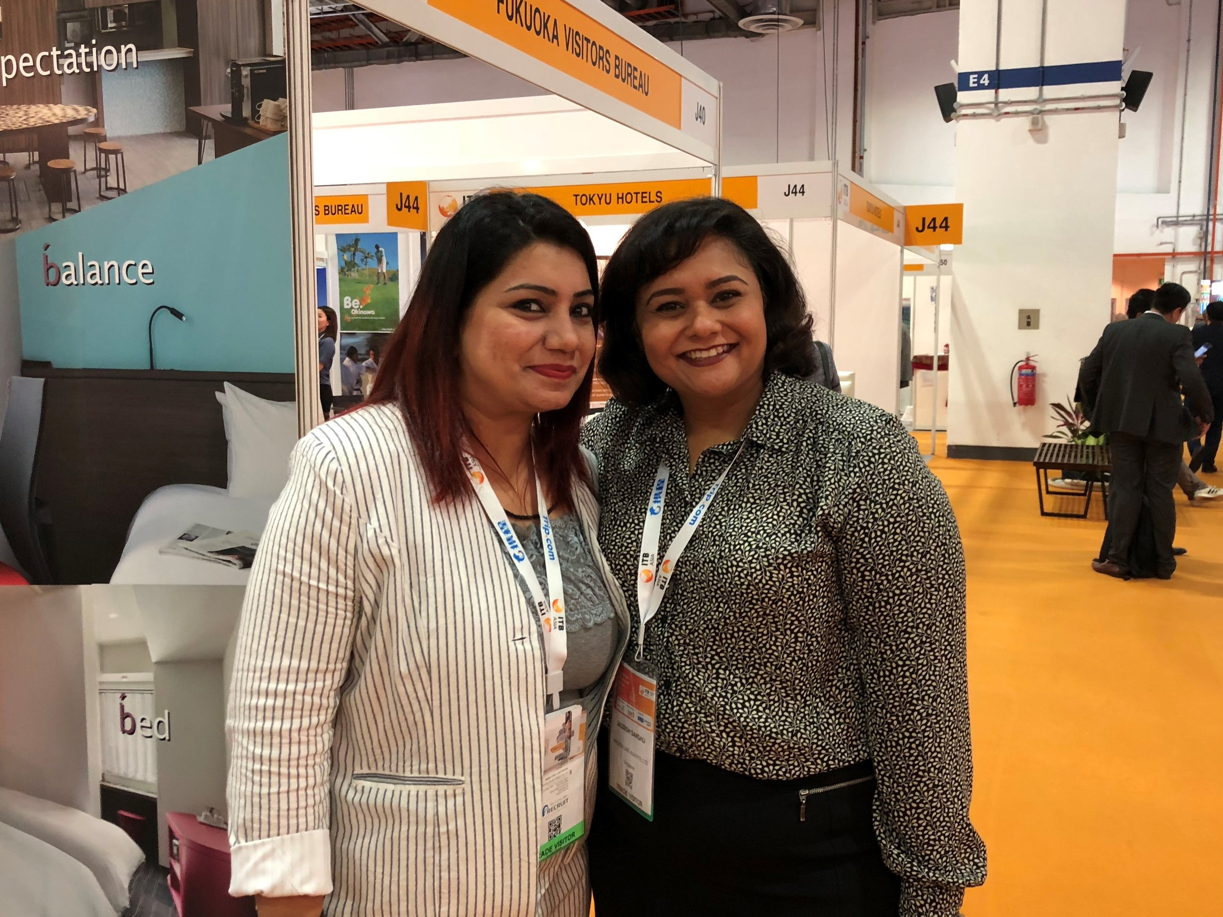 From left to right: Ms Preeti Bakshi (RateGain) and Ms Jagdish Sandhu (FLA).