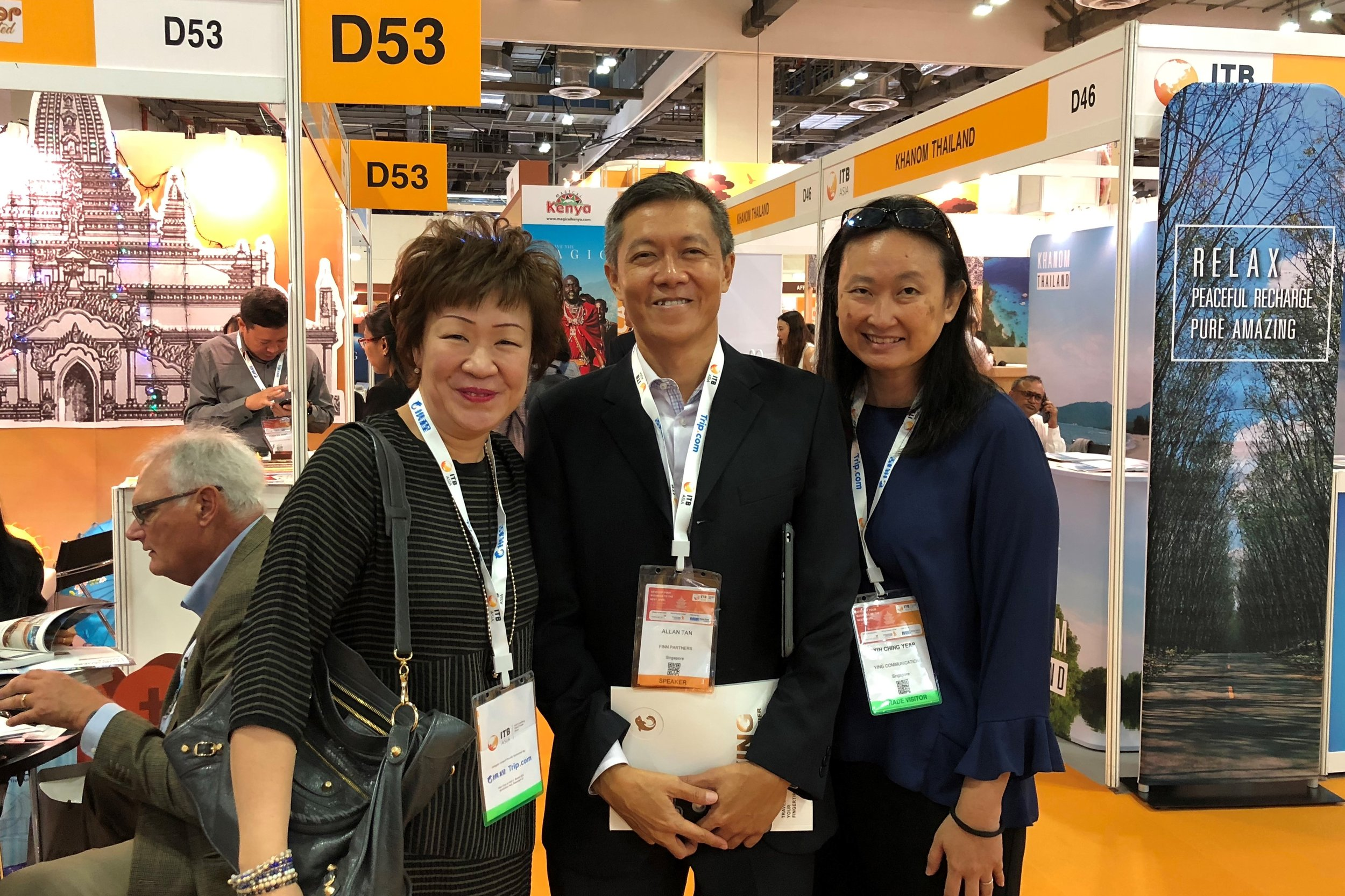 From left to right:  Ms Aileene Thangaveloo (FLA), Mr Allan Tan (Finn Partners), Ms Yin Ching Yeap (Ying Communications).