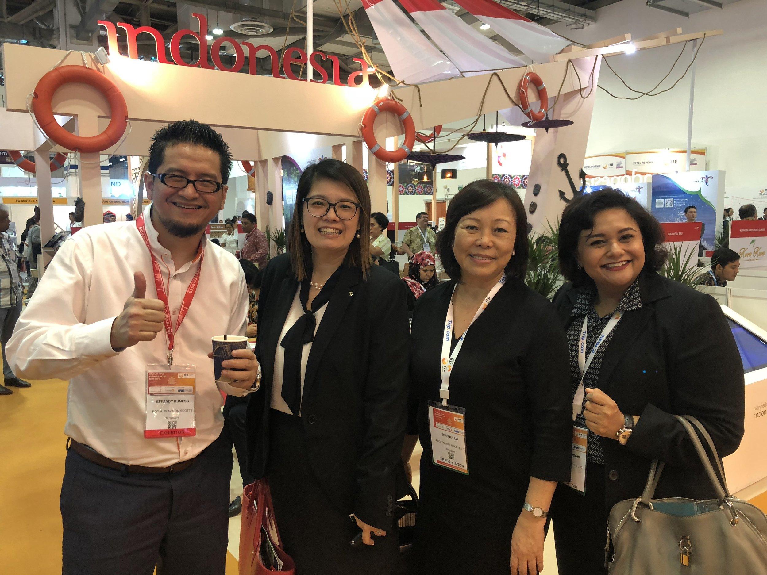 From left to right:  Mr Effandy Kumess (Royal Plaza on Scotts), Ms Elizabeth Tan (Dusit Laguna), Ms Serene Law (FLA), Ms Jagdish Sandhu (FLA).