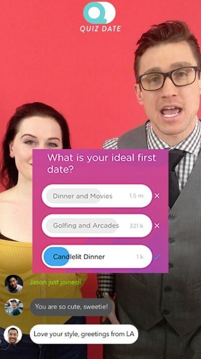 Quiz Date Live Screenshot