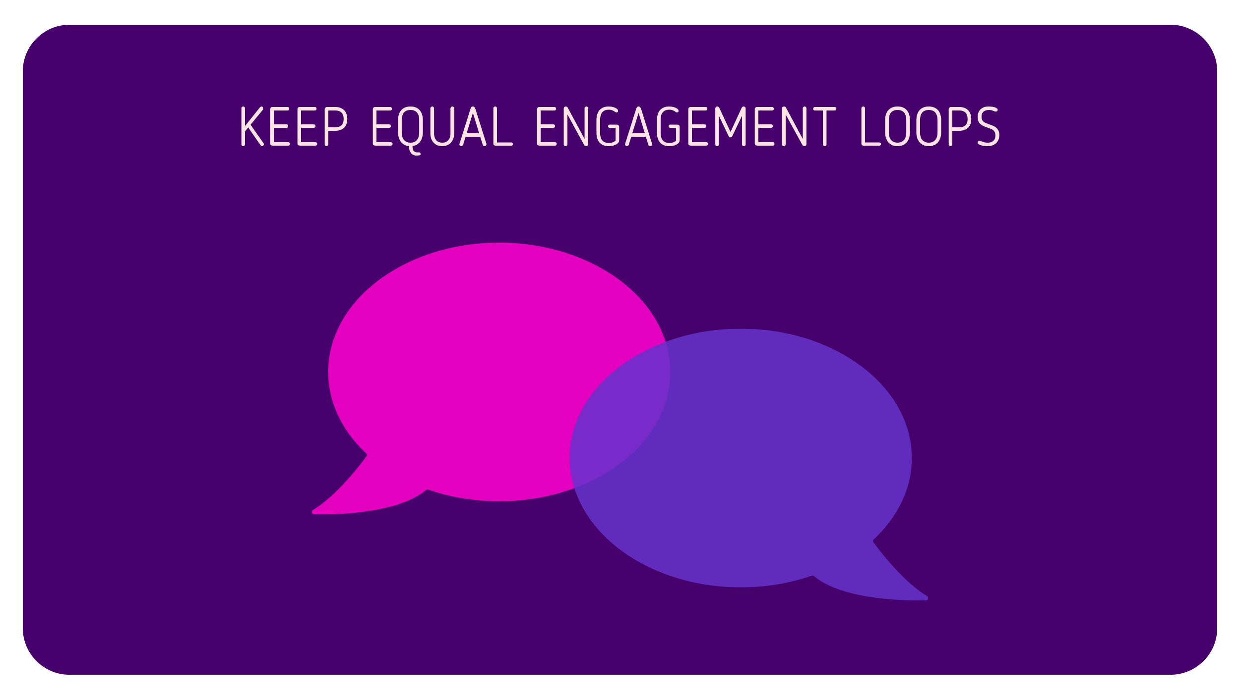 Equal Engagement Loops Infographic