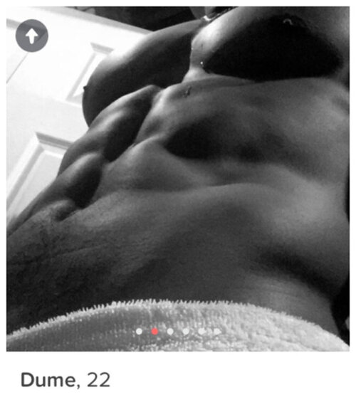 Example of a bad shirtless Tinder photo | Zirby