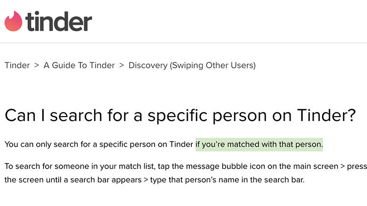 How To Search For Someone On Tinder Zirby Tinder Made Easy