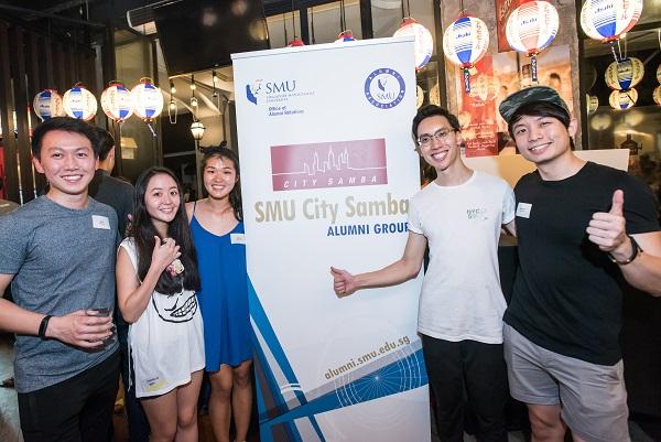 Interim EXCO (from left): Alvin Lim Zhi Xiang (BBM 2016), Annabelle Chew Xin Ying (BBM Year 4 student), Lok Xin Min (BBM 2017), Samuel Heah Tian Song (BBM 2016), and Samuel Lee Jun Jie (President, BBM 2016).