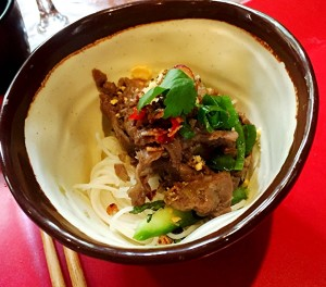 Chef Luke Nguyen's signature Fat Pho Noodles