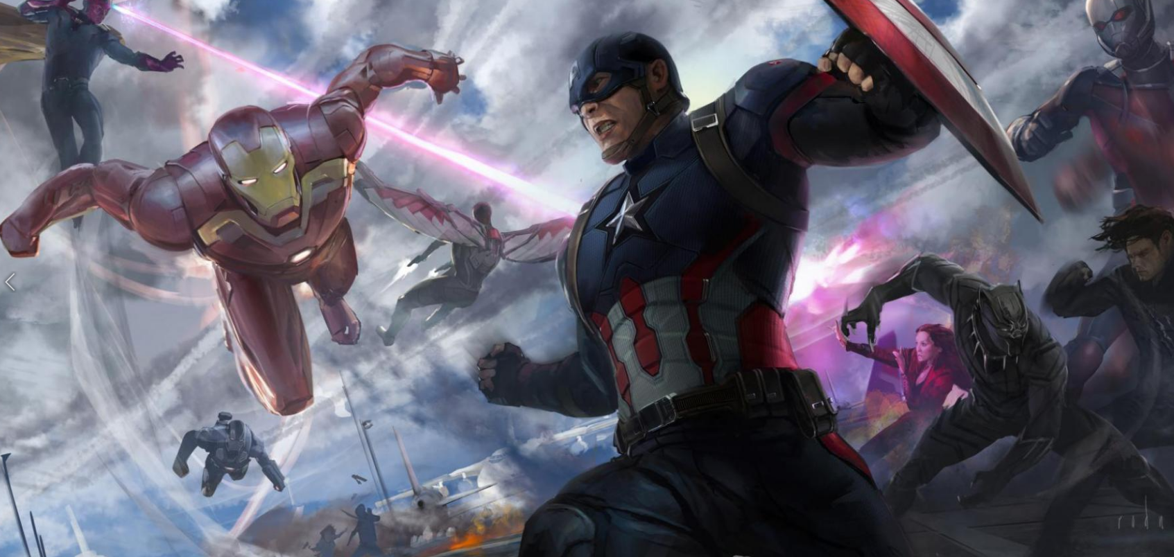 RODNEY FUENTEBELLA Splash panel/ Keyframe for Captain America: Civil War 2016 © 2017 MARVEL